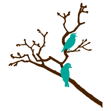 Birds on a branch_wall sticker