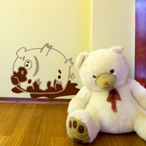 Dirty Piggy_kids wall sticker